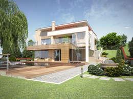 Современный коттедж: Дома в . Автор – Pugachev Design PRO