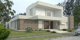 Vivienda LL - Manzanar Millenium, Cipolletti, Río Negro: Casas de estilo moderno por ARKIZA