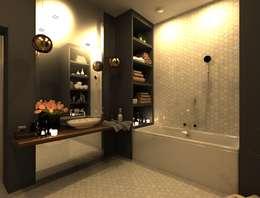 Baños de estilo escandinavo por AM Design