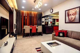 Proposed Interior Of 3BHK Flat: classic Living room by KANAKIA INTERIOR AND CONSULTANCY