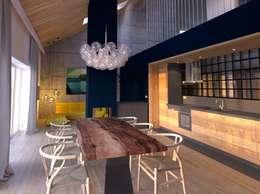 minimalistic Dining room by Snegiri Architects