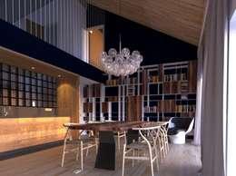 minimalistic Living room by Snegiri Architects