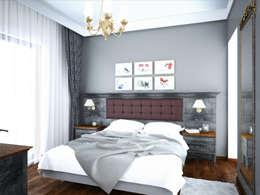 غرفة نوم تنفيذ Öykü İç Mimarlık