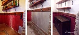 Pareti & Pavimenti in stile in stile Rustico di ÁBACO REFORMAS