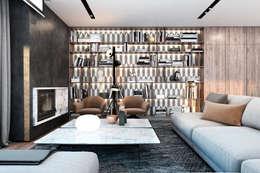 Neat interior for a young family.: Гостиная в . Автор – Виталий Юров