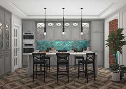 Квартира в Красногорске. ЖК Молодежный: Кухни в . Автор – 3D GROUP
