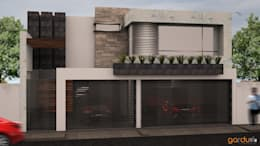Fachada principal : Casas de estilo minimalista por GarDu Arquitectos
