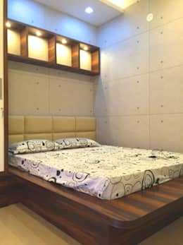 Mr. Jitendra Pathak: modern Bedroom by GREEN HAT STUDIO PVT LTD