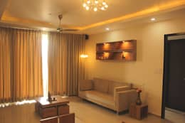 Mr. Jitendra Pathak: modern Living room by GREEN HAT STUDIO PVT LTD