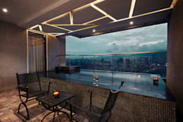 spa pool -near formal living room:  Terrace by Interface