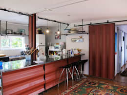 Container kitchen: modern Kitchen by A4AC Architects