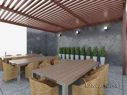PROYECTO TERRAZA Y DISCOTECA LA PLANICIE - LIMA PERU: Casas de estilo moderno por Vanguardist Design Studio