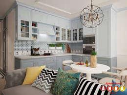 Цветущий миндаль: Кухни в . Автор – Дизайн-студия Анны Игнатьевой