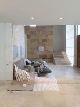 PROCESO DE OBRA: Casas de estilo moderno por Lasso Design Studio