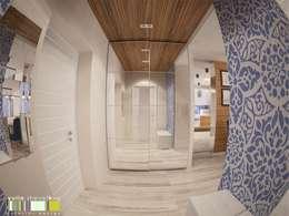 Projekty,  Korytarz, przedpokój zaprojektowane przez Мастерская интерьера Юлии Шевелевой