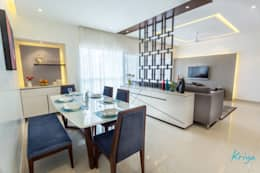3 BHK apartment - RMZ Galleria, Bengaluru: modern Dining room by KRIYA LIVING