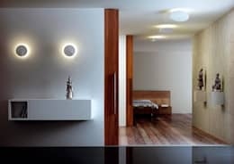modern Corridor, hallway & stairs by Rufo Iluminación