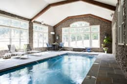 Riverside Retreat: classic Pool by Lorna Gross Interior Design