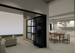 Patio _ dining room: modern Dining room by Seven Stars Developments