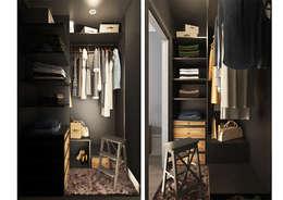 Vestidores y closets de estilo escandinavo por OBJECT