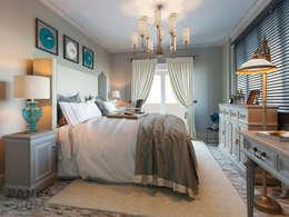 Американская клссика для молодой семьи: Спальни в . Автор – дизайн-студия PandaDom