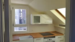 Cocinas de estilo moderno por Estudo de Arquitectura Denís Gándara