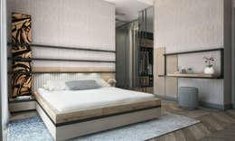 Спальная комната  в . Автор – Voltaj Tasarım
