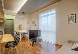 SALA DE TV E JANTAR: Salas de jantar modernas por Botti Arquitetura e Interiores-Natália Botelho e Paola Corteletti