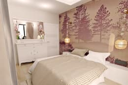 50GR Mimarlık – halkalı_1+1 daire: modern tarz Yatak Odası