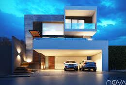 Fachada principal.: Casas de estilo minimalista por Nova Arquitectura