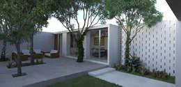 Fachada Interior | Terraza: Casas de estilo minimalista por EMERGENTE | Arquitectura