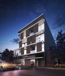 Fachada:  de estilo  por Aflo Arquitectos