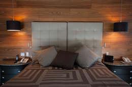 Departamento Azar: Recámaras de estilo moderno por Aflo Arquitectos