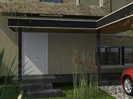 Duplex AB: Casas de estilo moderno por Arq. Gerardo Rodriguez