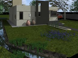 Casa RB: Casas de estilo moderno por Arq. Gerardo Rodriguez