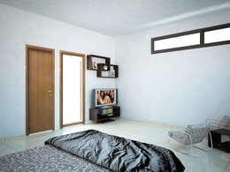 Casa V & Y: Recámaras de estilo minimalista por Ecourbanismo