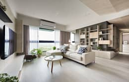 minimalistic Living room by 思維空間設計