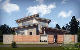 Casas de estilo colonial por Компания архитекторов Латышевых 'Мечты сбываются'