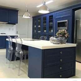 مطبخ تنفيذ Blue Home