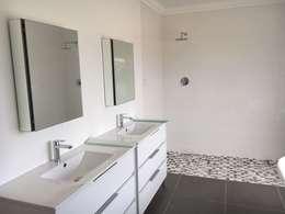 New bathroom : modern Bathroom by Cornerstone Projects