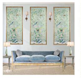 غرفة المعيشة تنفيذ Devyani Kumari Lifestyle & Designs