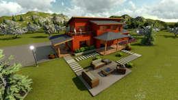 Casa de Campo: Casas de estilo clásico por CA|Arquitectura