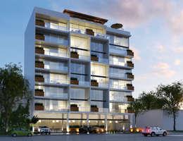 SYNTAGMA HABITACIONAL: Casas de estilo moderno por Entorno Arquitectura