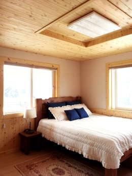 Спальни в . Автор – Timber house