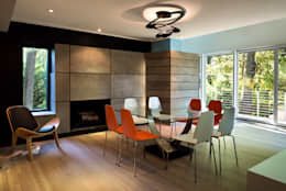 Cache House: modern Dining room by KUBE Architecture