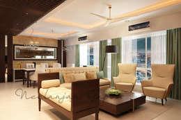 Formal seating: classic Living room by Neelanjan Gupto Design Co