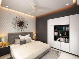 master bedroom: modern Bedroom by Neelanjan Gupto Design Co