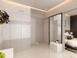 walkin wardrobe: modern Bedroom by Neelanjan Gupto Design Co