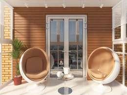 Балкон: Tерраса в . Автор – Anastasia Yakovleva design studio