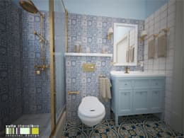 classic Bathroom by Мастерская интерьера Юлии Шевелевой